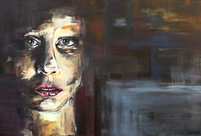 Power, acrylic paint