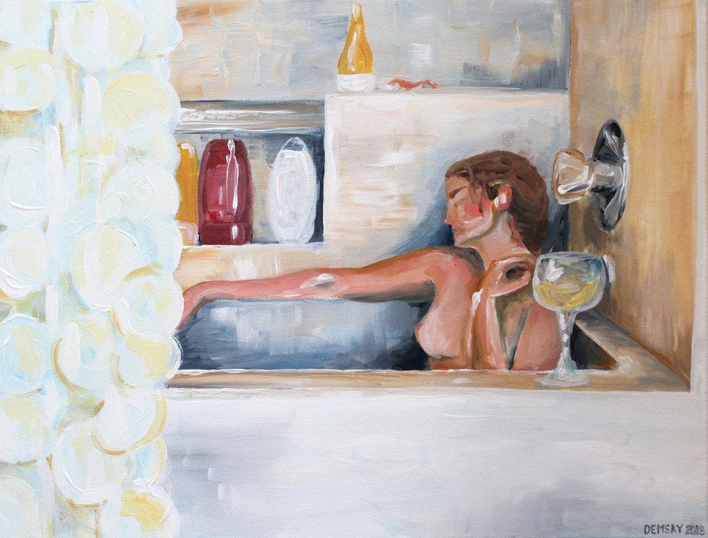 Drowning,  acrylic paint