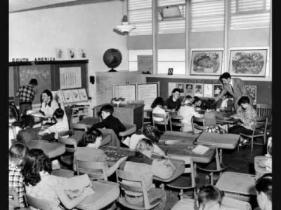 A typical Compton classroom like the ones my mom attended.