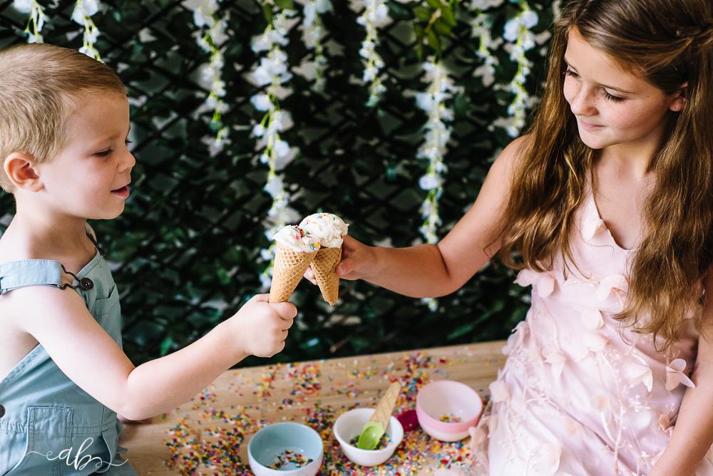Gracie + Ramsey's Ice Cream Session | Anne Bertelson Photography | Plano, Highland Park, Allen, McKinney, Frisco, Dallas Fine Art Newborn, Child + Fashion Photographer
