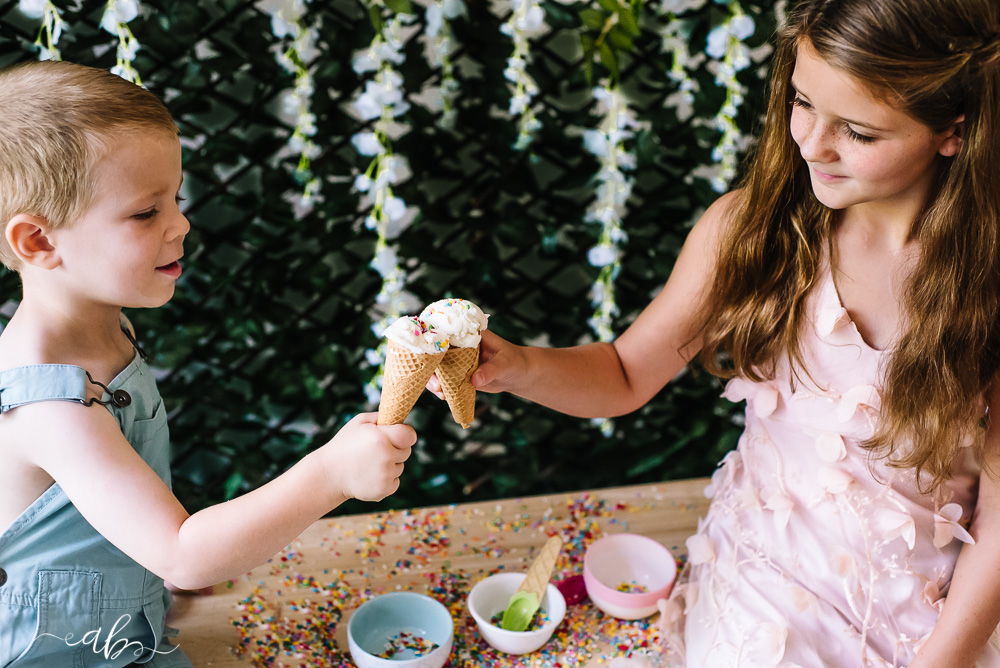 Gracie + Ramsey's Ice Cream Mini Session | Anne Bertelson Photography | Plano, Allen, McKinney, Frisco, Highland Park, Dallas Newborn, Child + Fashion Photographer | www.AnneBertelsonPhotography.com