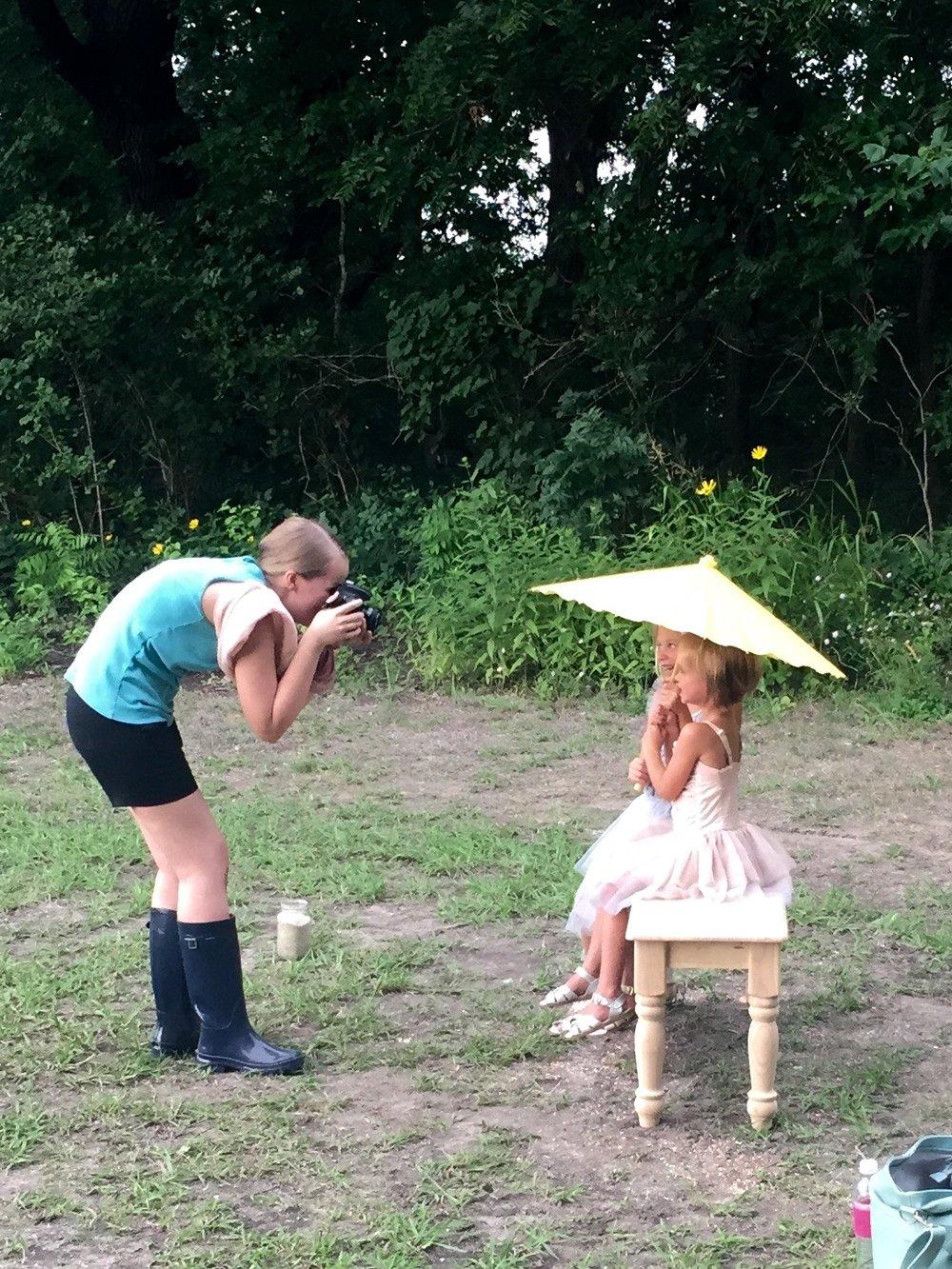 Laude Girl's Ice Cream Daydream Mini BTS | Anne Bertelson Photography | Dallas + Plano Fine Art Child Photographer