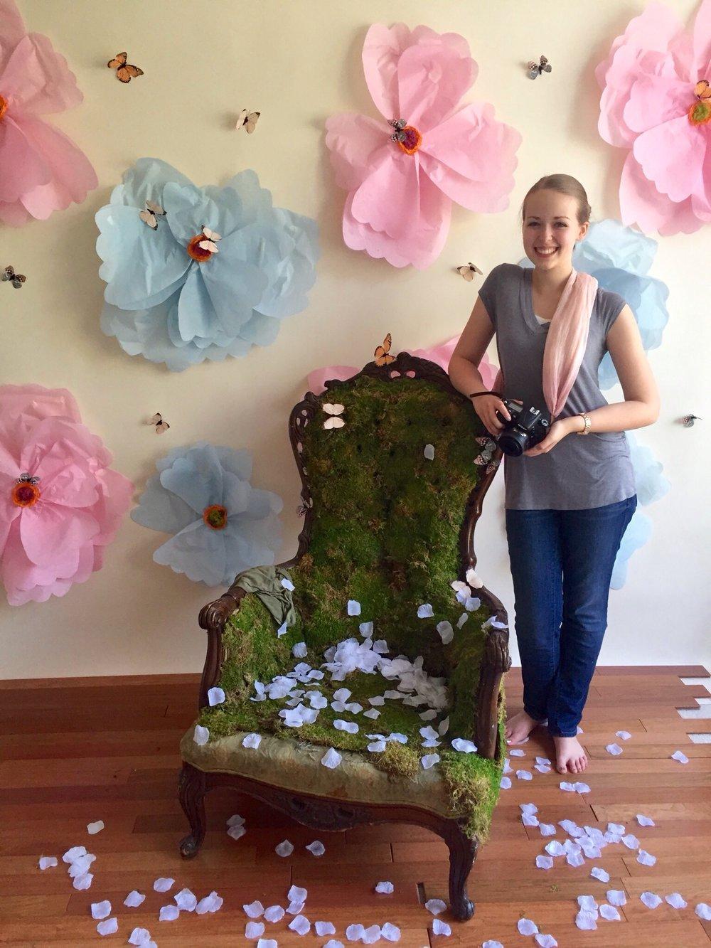 A.'s Butterfly Princess Daydream Mini BTS | Anne Bertelson Photography | Dallas + Plano Fine Art Child Photographer