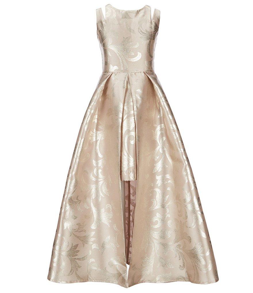 Rare Editions Scroll Print Walk-Through Dress | Dillard's