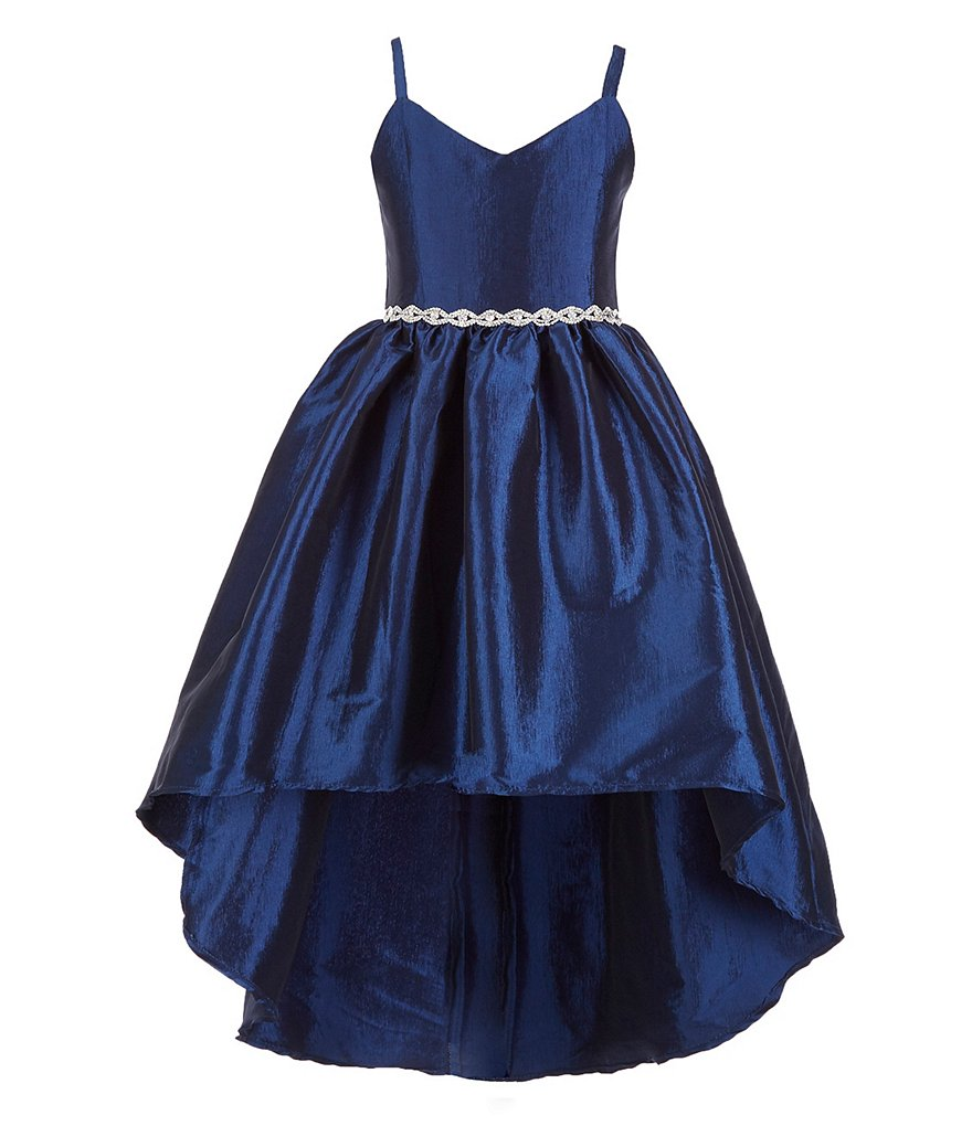 Rare Editions Embellished-Waist Extreme High-Low Dress | Dillard's