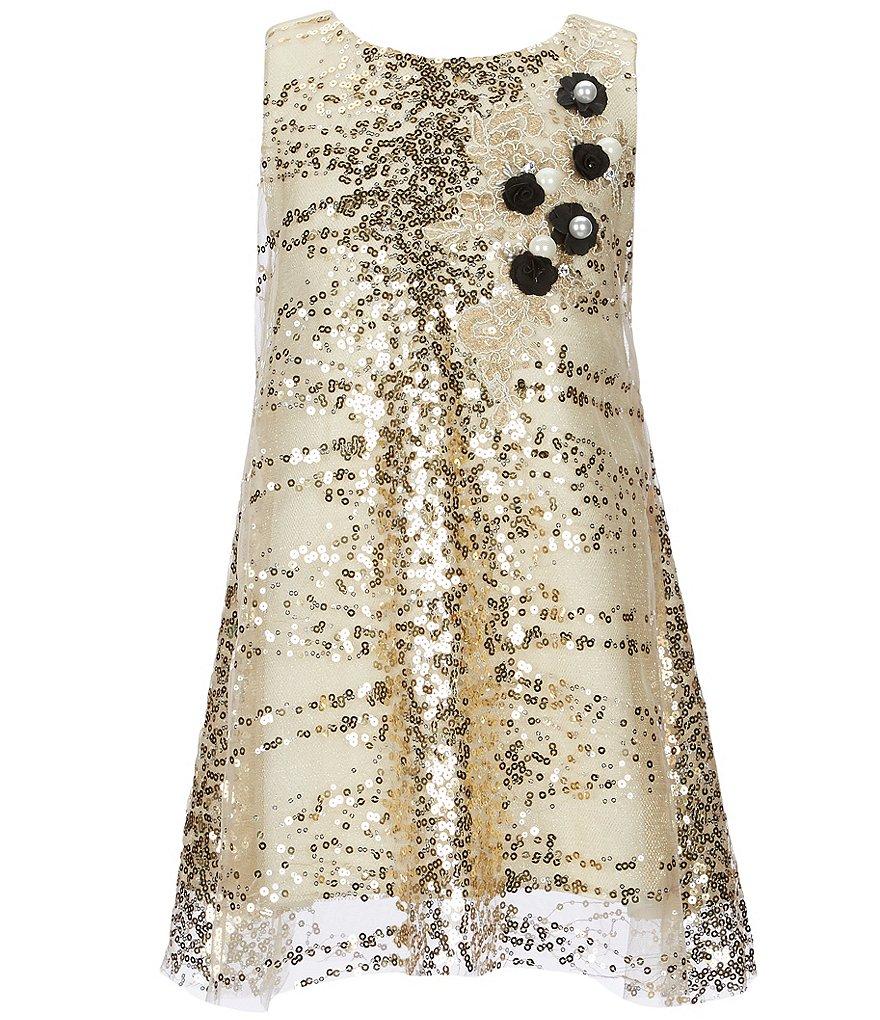 Zoe Sleeveless Sequin Shift Dress | Dillard's