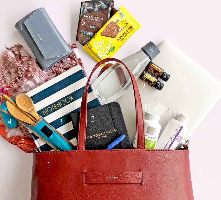 what's in my bag: healthy & eco-friendly
