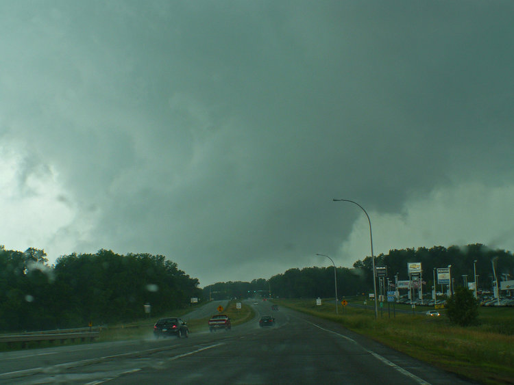 June 21st Minnesota Storm Chase - Several Wall Clouds Near