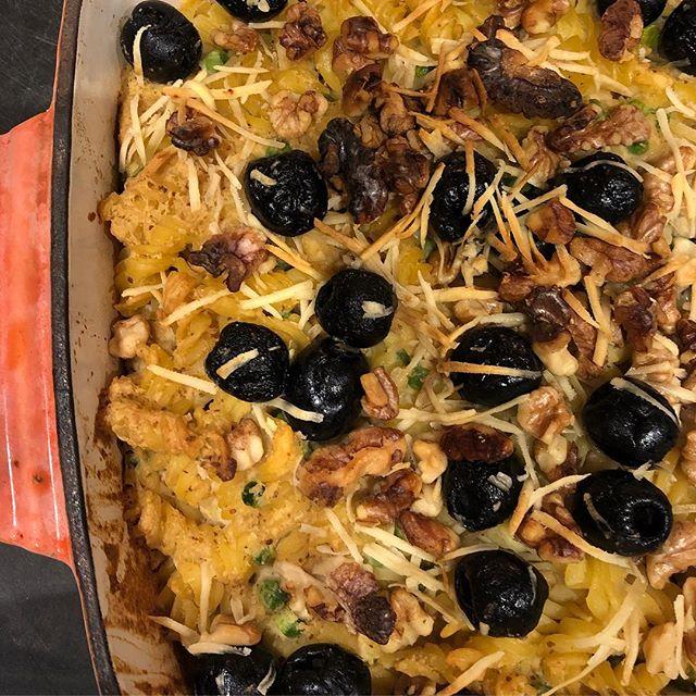 Roasted Celeriac 'Mac and cheese' #vegan #glutenfree #plantbased #annajones #vegankids #familycooking #veganuary
