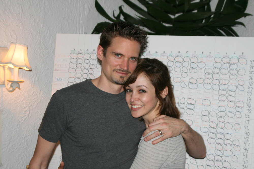 Jess & I in front of our yearly creation—the Oscar Board!! Jess keeps track of everyone's votes & the winners in each category. We use a weighted point system. In fact, I would have WON this year if I had only picked 'Hurt Locker' for best picture! I think my decorating scheme unduly influenced my choice (Avatar)... Grrrr…
