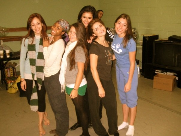 The Ladies of 'Mall' in the rehearsal studio