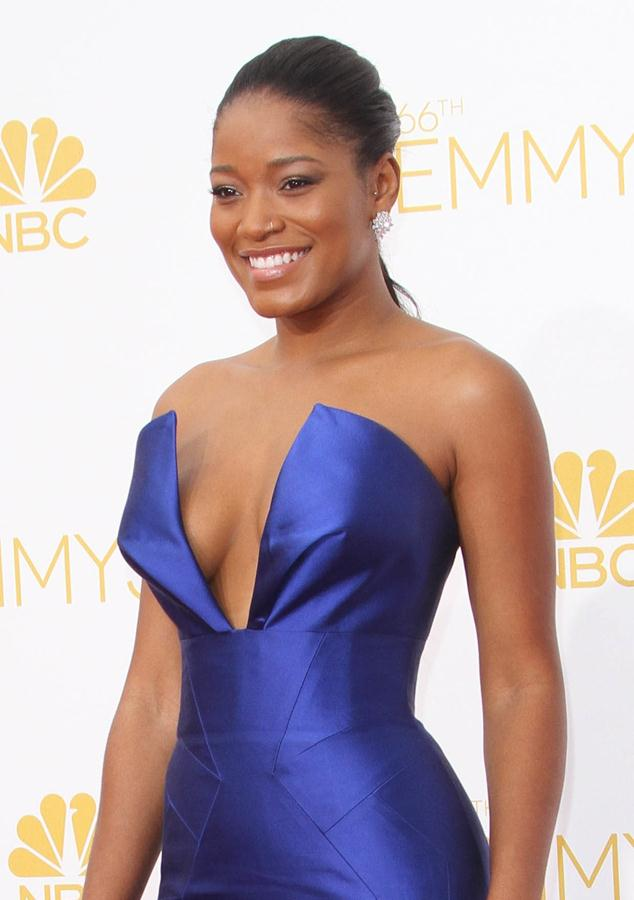 Keke Palmer attending the 66th Primetime Emmy Awards held at The Nokia Theatre.