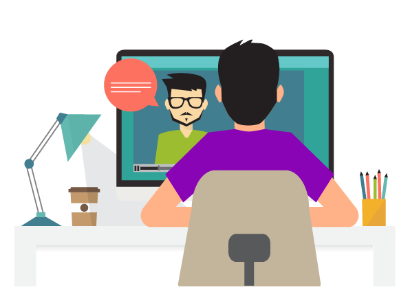 Face-to-face - Our teleconferencing software allows our teachers to see their students while they work. This helps the teachers hold the students accountable and allows them to read and respond to their student's expressions throughout the session.