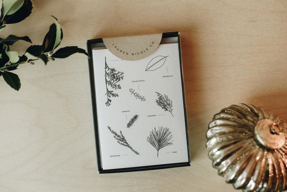 Holiday Stationery Boxed Set   Lauren Nicole Co.   #stationey #holidaystatiomery #greetingcards, organize, boxed set, holiday cards