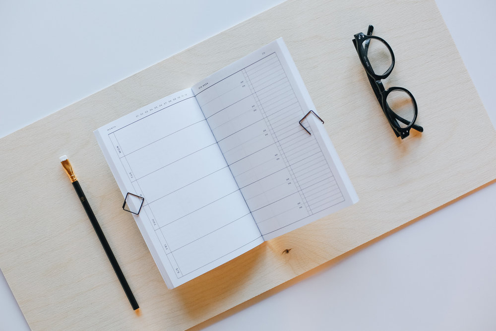 Any-Year Classic Planner | Lauren Nicole Co. #planner #organization #stationery #minimal, minimal design, millennial, any-year planner, agenda, diary, workspace