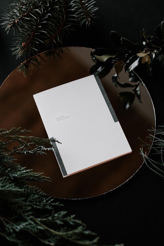 Holiday Stationery | Lauren Nicole Co. #stationery #greetingcards #holidaycards, modern stationery, holiday stationery, christmas cards