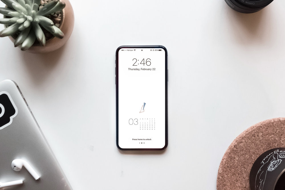 Free March Calendar Download by Studio Ease, Desktop + Mobile | #calendar, free calendar, free calendar download, February calendar, iphone wallpaper, desktop wallpaper, calendar wallpaper