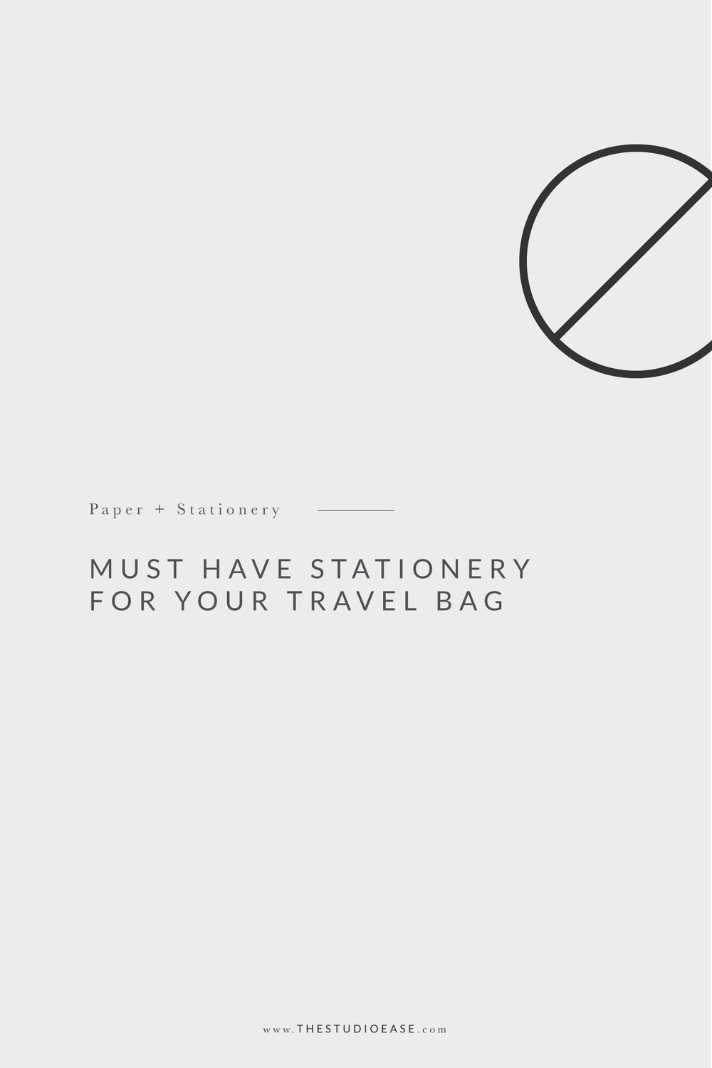 Must Have Stationery for Your Travel Bag by Studio Ease #vacation #travelprep #vacationchecklist vacation planning, vacation checklist, travel ideas, stationery, flat lay