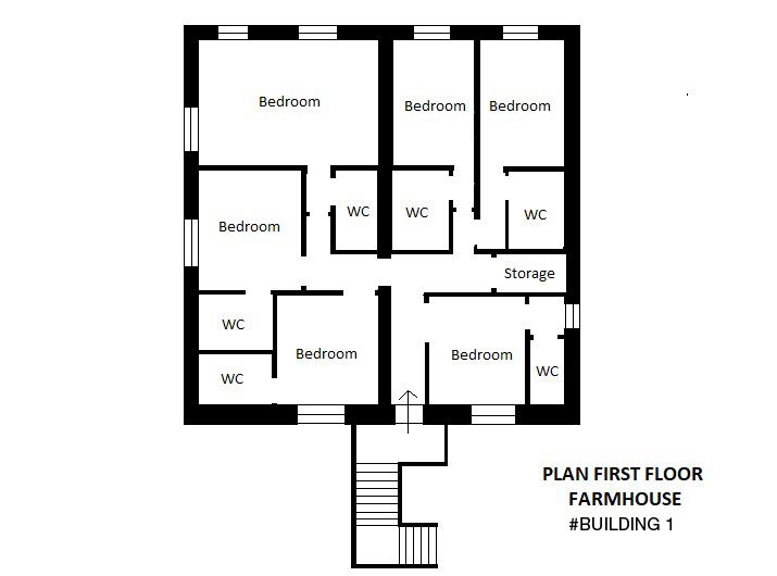 First Floor Plan Farmhouse  1st Building