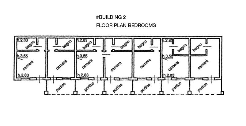 Floor Plan Bedrooms  2nd Building (B&B)