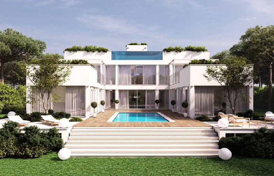 VILLA PIED DANS L'EAU - A villa suspended between land and sea: the project intend to maximise the full potential of the property and can be fully customised according to the buyer's tastes.