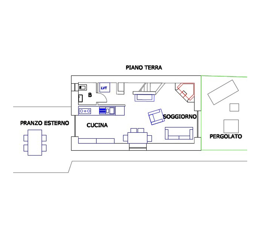 Glicine Dependance, Ground Floor