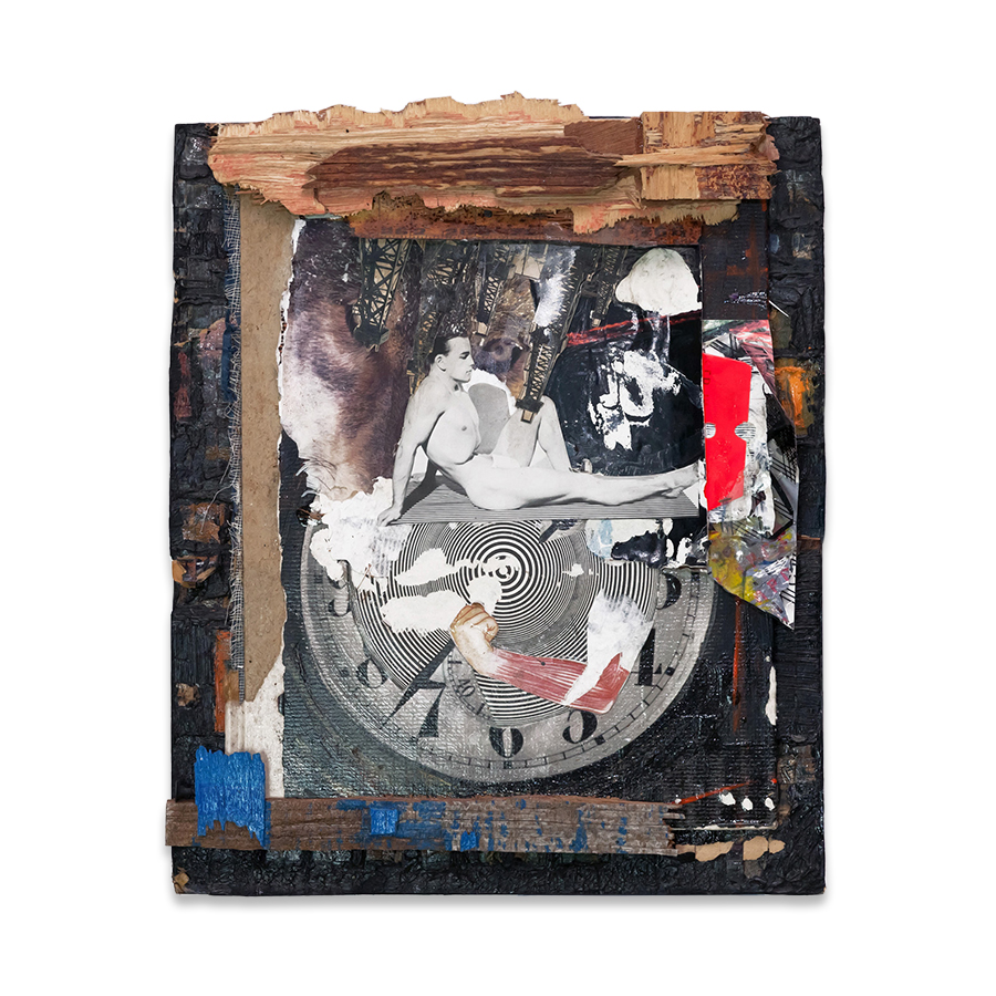 STRONGHOLD 2012 Found objects/mixed media collage 12 x 10 in