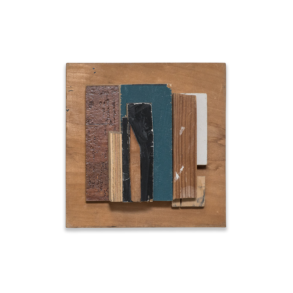 BLUE 2015 found wood 7 x 3 x 6.75 in