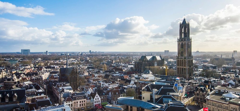 A beautiful view of the city of Utrecht, the Netherlands