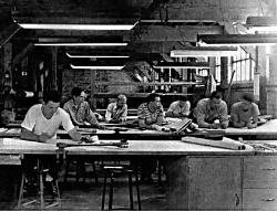 The Drafting room at the Davis Motor Company