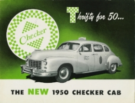 The rather normal looking 1950 Model A-2 (Checker advert, circa 1950)
