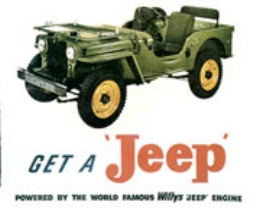 Jeep CJ2A (Willys advert CIRCA 1946)