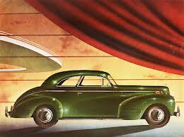 1939 DeSoto Hayes Body Coupe (DeSoto ad art CIRCA 1939)
