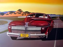 1942 DeSoto Airfoil Coupe (DeSoto ad art CIRCA 1942)