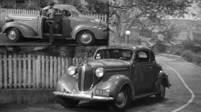 1937 plymouth P4 DeLuxe : Philip marlowe's choice in  the big Sleep  (www.imcdb.com)