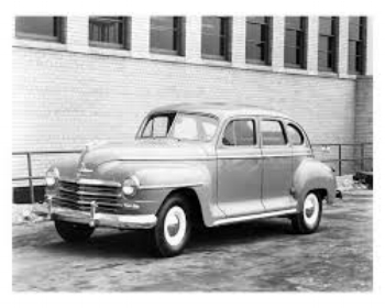 1948 plymouth: pre war style BEGINNING to look a bit stale