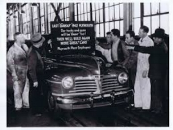1942 plymouth: would be the last new car for 3 1/2 years