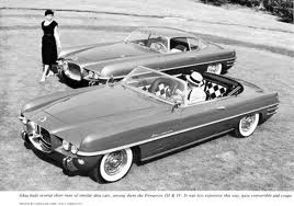 The  1953 Dodge Fire Arrow  was the first of a second generation of concepts conceived by Exner. Each had a chassis and drivetrain from one of the Chrysler divisions. (www.coachbuilt.com)