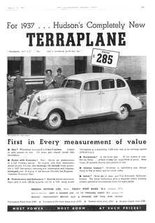 1937 Hudson Terraplane advert