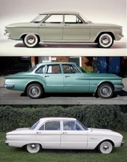 Big 3s compacts: Corvair, Valiant and Falcon (www.curbsideClassics.com