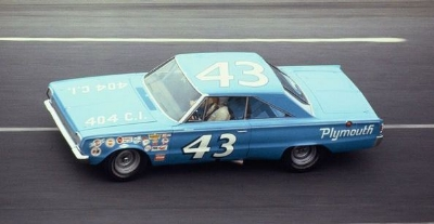 Fast, too. Richard Petty's #43 Plymouth dominated NASCAR, earning him the NICKNAME, King Richard