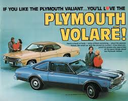 Out with the old, In with the new (Plymouth advert circa 1976)