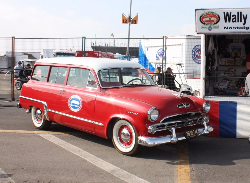 1951 Plymouth Suburban (photo by Mal Pearson at 2018 NHRA Winternationals)