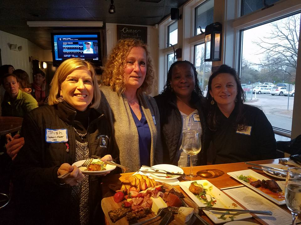 Martha's Vineyard and Cape Cod women networking at a CEO Power Hour at Quicks Hole Tavern.