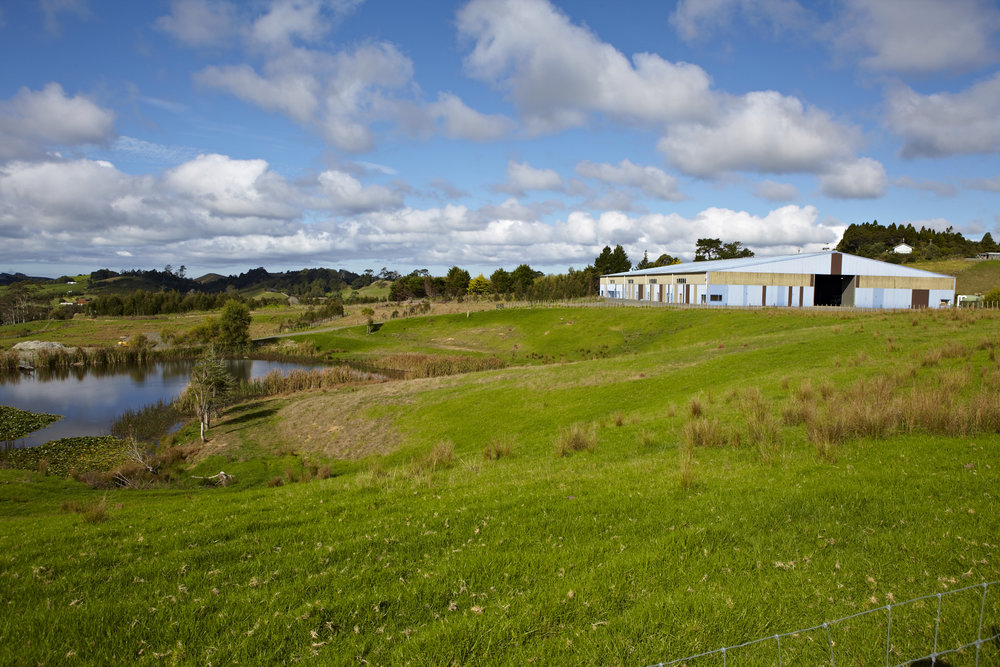 Studio in 3.78 ha setting, rural Wainui landscape
