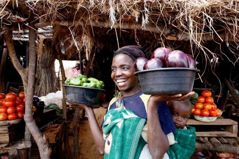 A marketplace in Kenya.