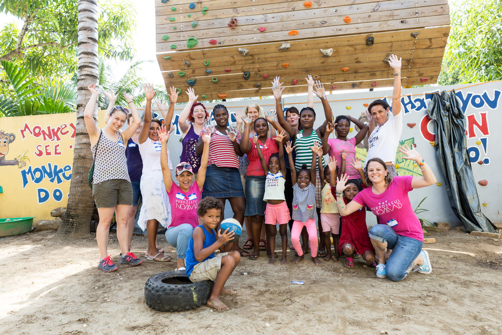Our first group working in the DR!