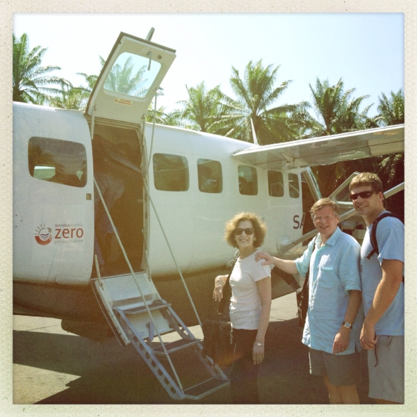 My family in Costa Rica. This was a REALLY hard flight for me!!!