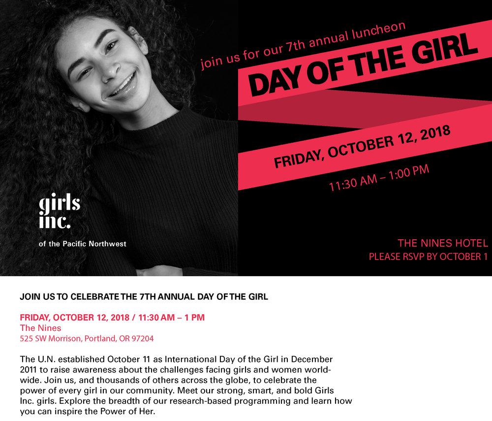Girls, Inc Benefit - October, 12th 2018