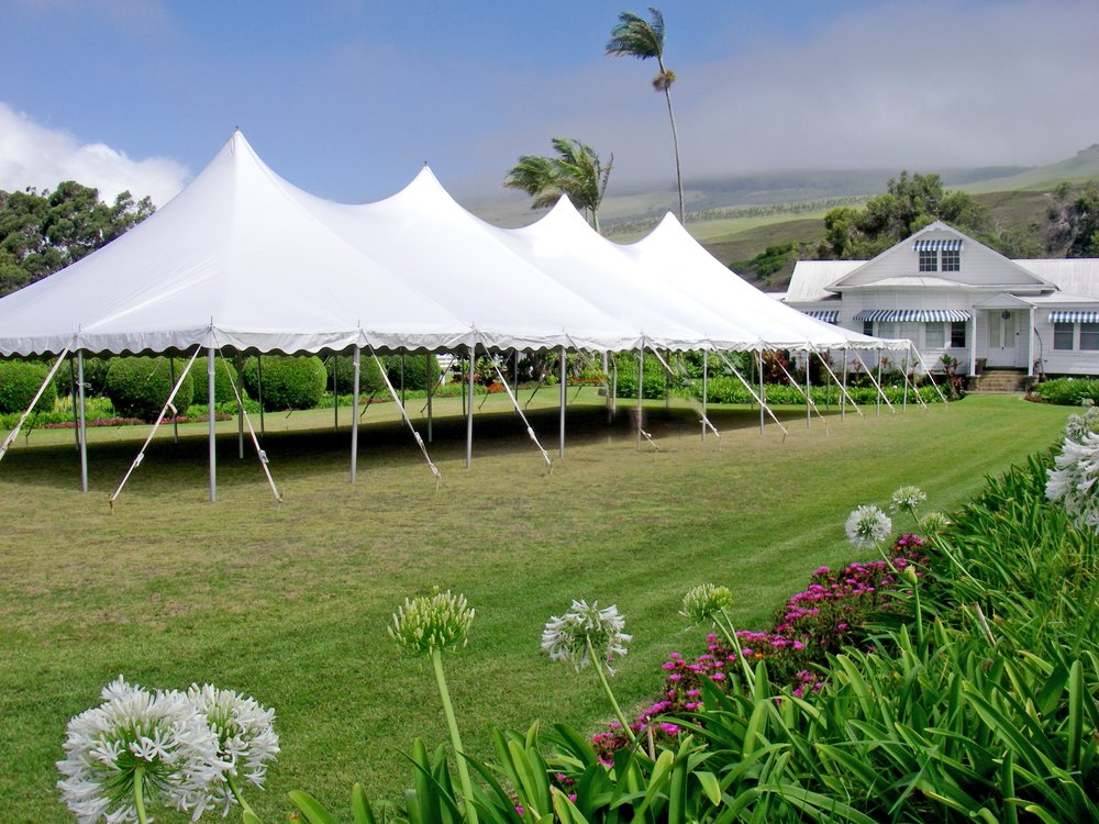 Event tent anna's front Lawn